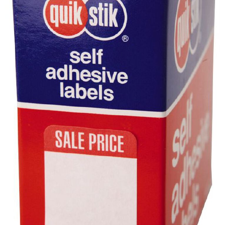 Quik Stik Labels Sale Price Removable 400 Pack White, , hi-res