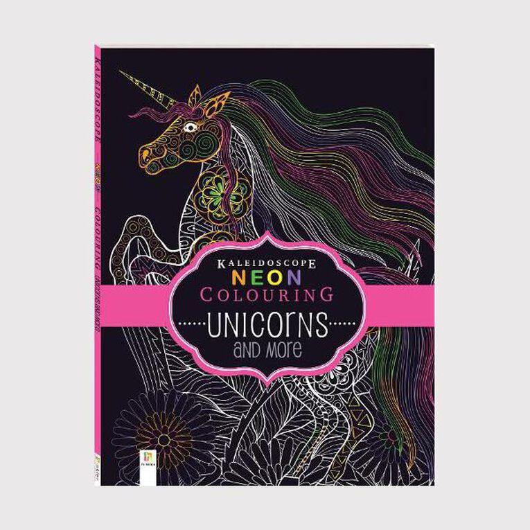 Kaleidoscope Neon Colouring: Unicorns & More, , hi-res