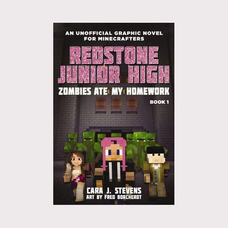 Redstone Junior High #1 Zombies Ate My Homework by Cara J Stevens, , hi-res
