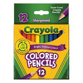 Crayola Colored Pencils Half Size Multi-Coloured 12 Pack
