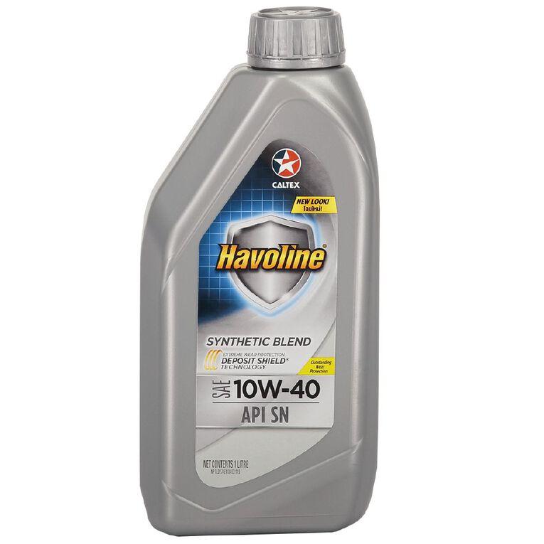 Caltex Havoline Synthetic Blend (SN) 10W-40 1L, , hi-res
