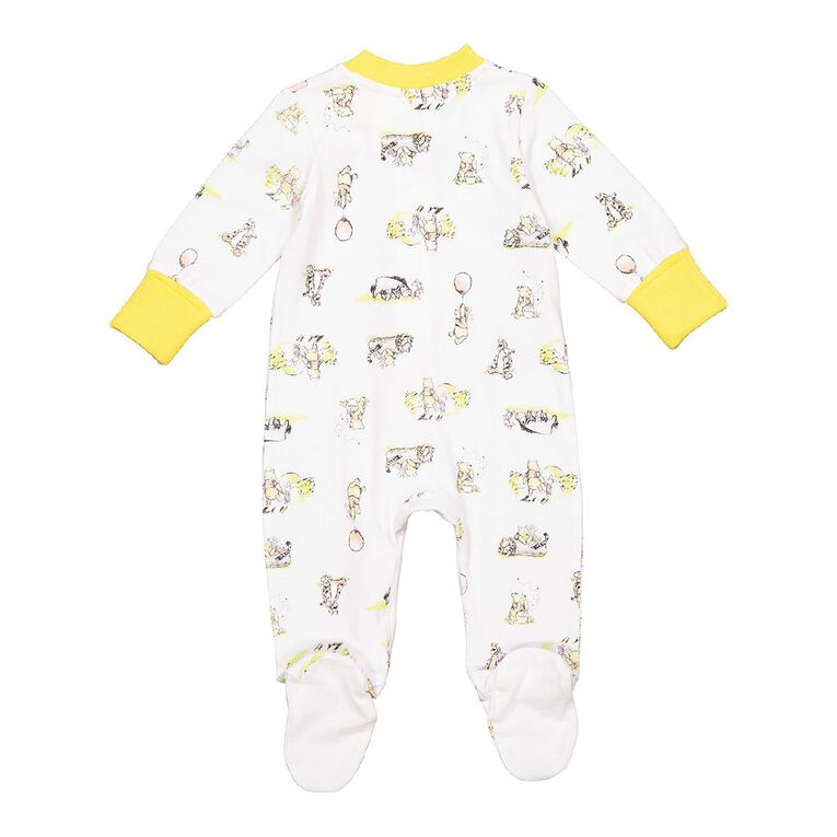Winnie the Pooh All In One 2 Way Zip, White, hi-res