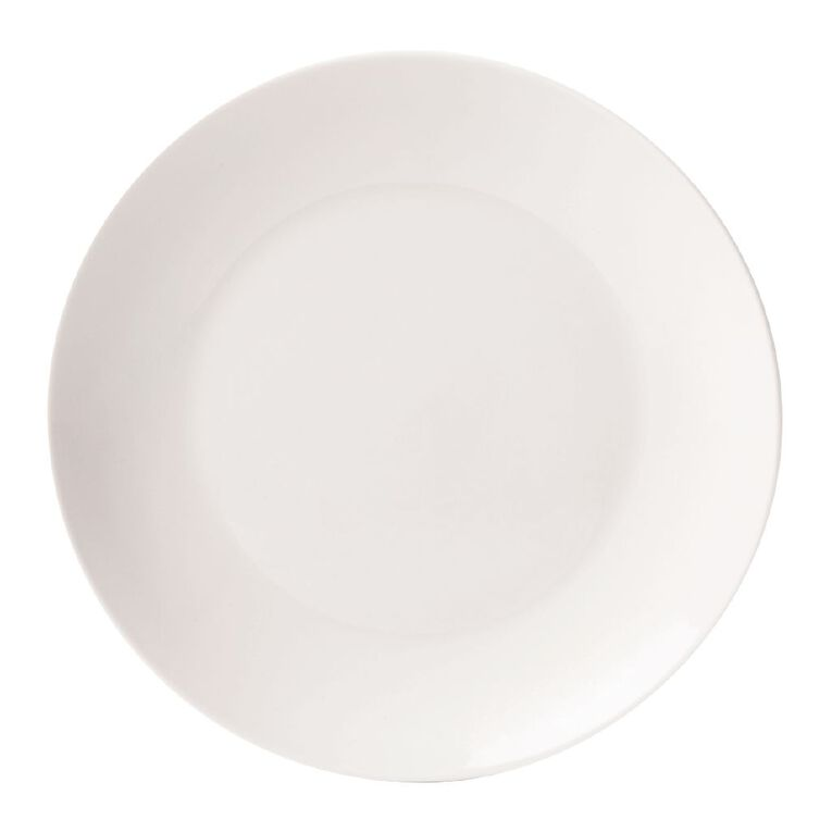 Living & Co Coupe Side Plate White 18cm, , hi-res