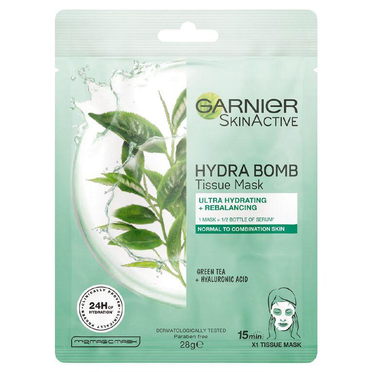 Garnier Hydrabomb Tissue Mask Green Tea, , hi-res
