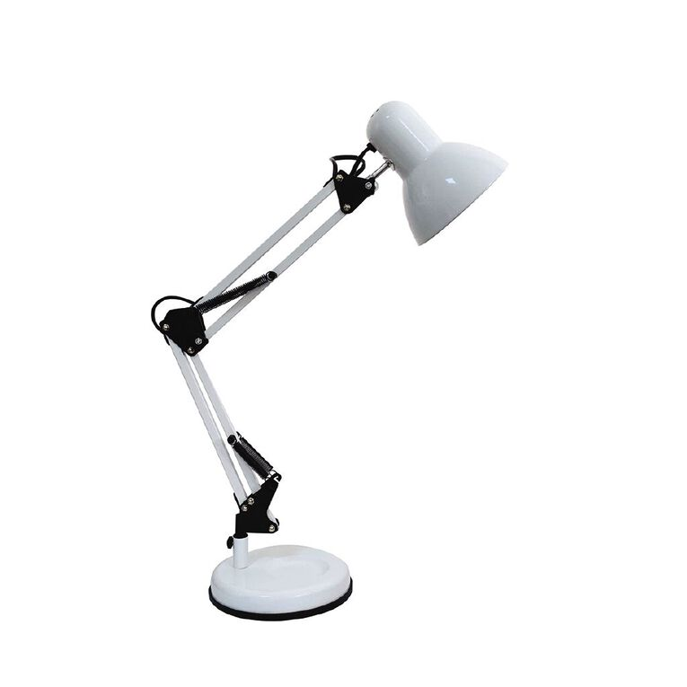 Living & Co Pierre Desk Lamp E27 25w White, , hi-res