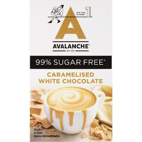Avalanche 99% Sugar Free Caramelized White Chocolate 10 Pack