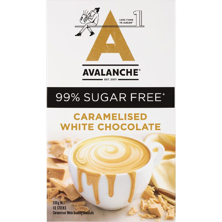 Avalanche 99% Sugar Free Caramelized White Chocolate 10 Pack, , hi-res