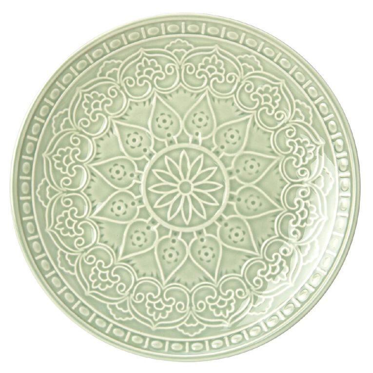 Living & Co Glazed Moroccan Side Plate Sage Green, , hi-res