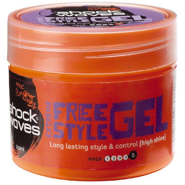 Shockwaves Hairplay Extreme Hold Gel 250g, , hi-res