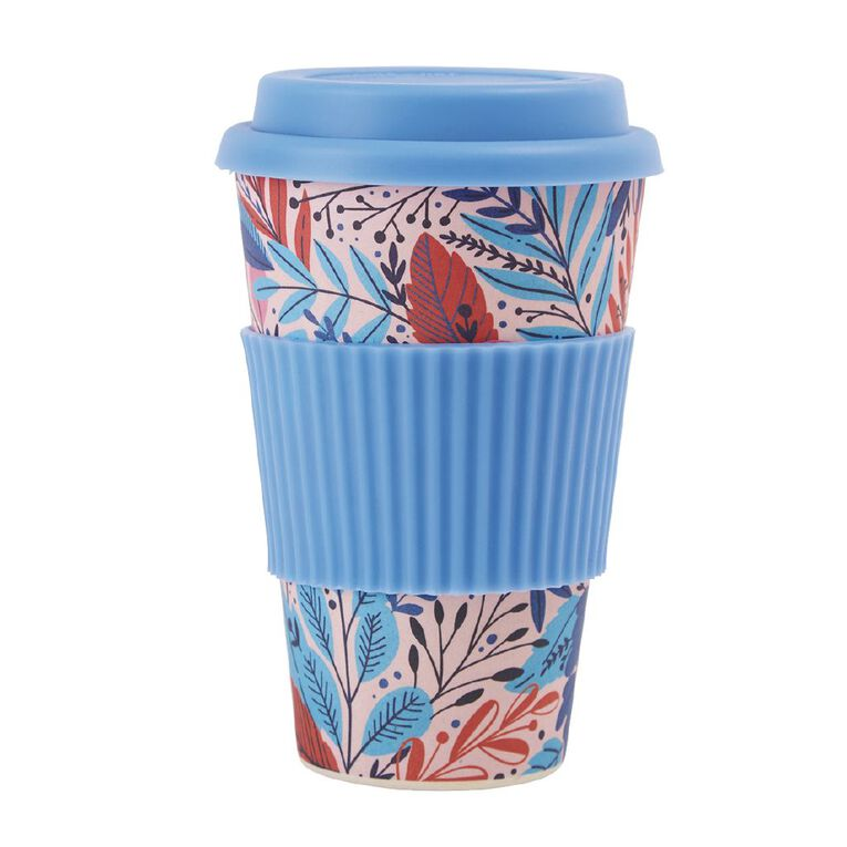 Living & Co Bamboo Travel Cup Botanical 500ml, , hi-res