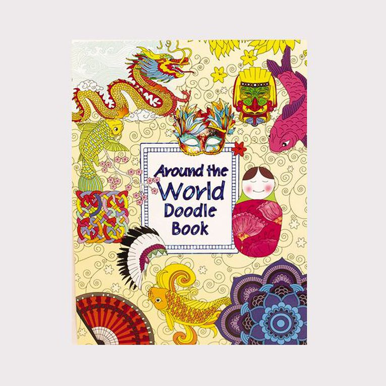 Doodle Around the World Colouring Book, , hi-res image number null