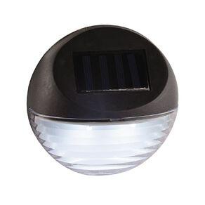 Kiwi Garden Solar Fence Light 2 Lumen Black
