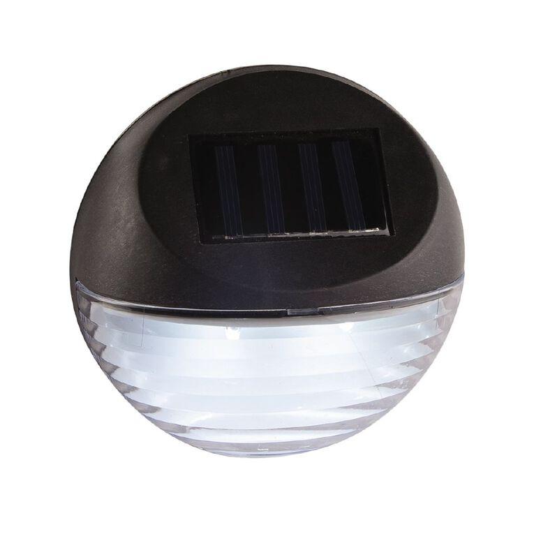 Kiwi Garden Solar Fence Light 2 Lumen Black, , hi-res