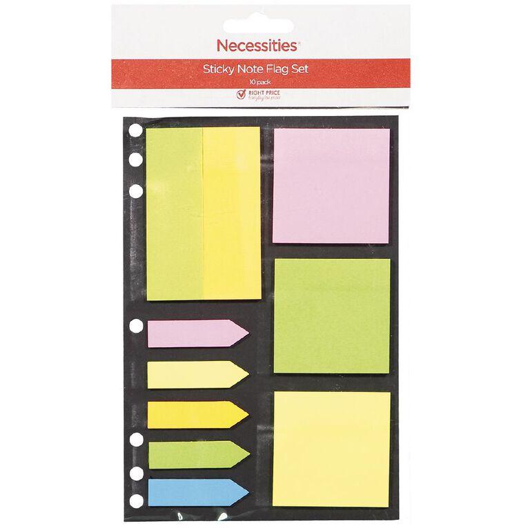 No Brand Sticky Note & Flag Set 10 Piece, , hi-res