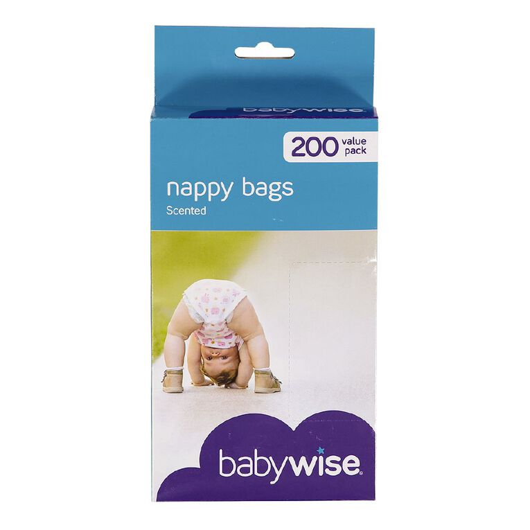 Babywise Scented Nappy Bags 200 Pack, , hi-res