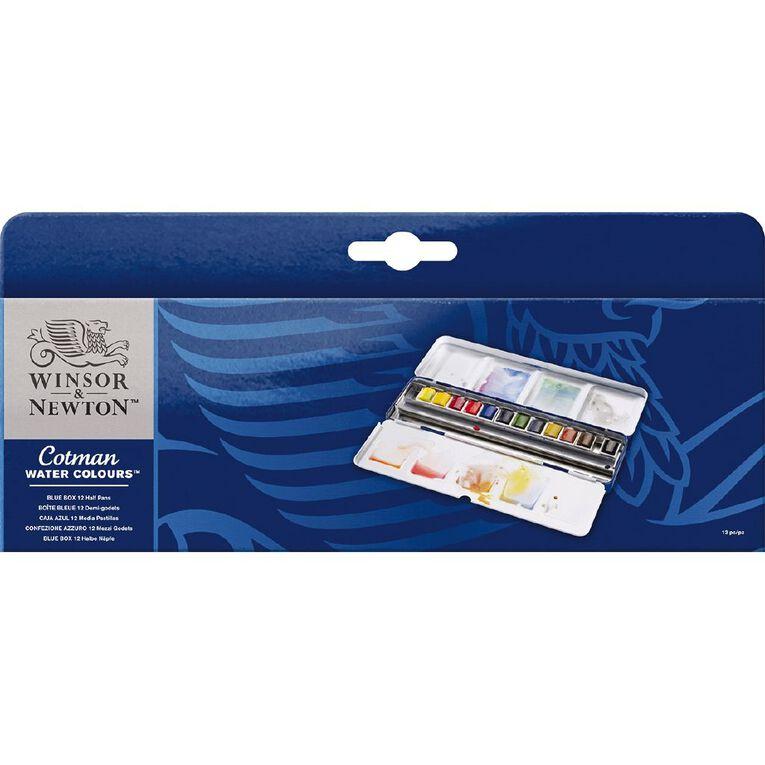 Winsor & Newton Cotman Watercolour Blue Box 12 Pack, , hi-res