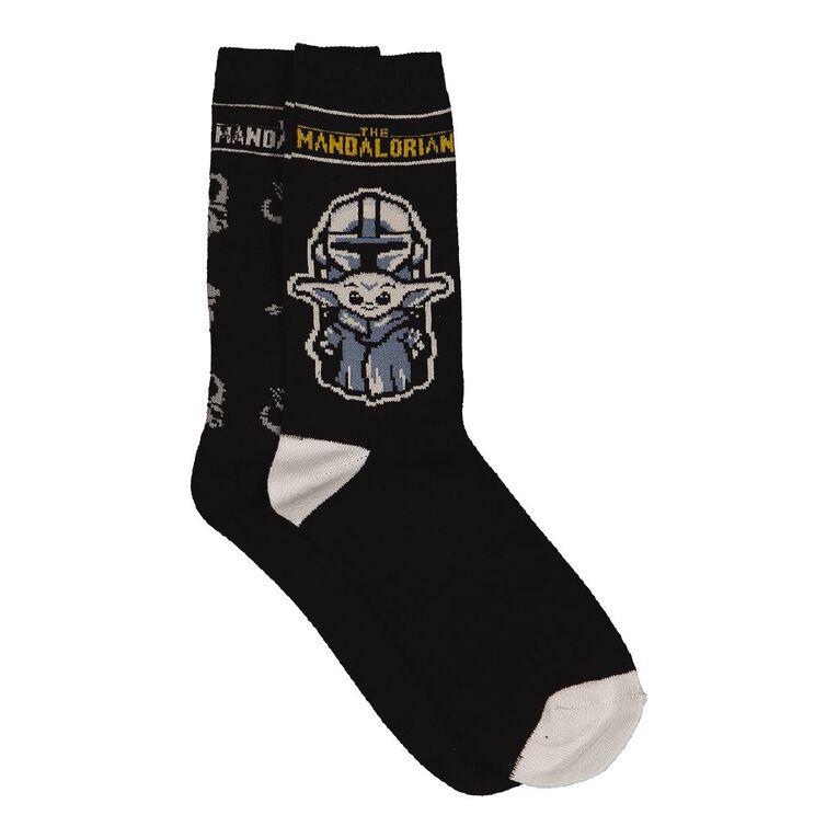 Star Wars Men's Crew Socks 2 Pack, Black, hi-res
