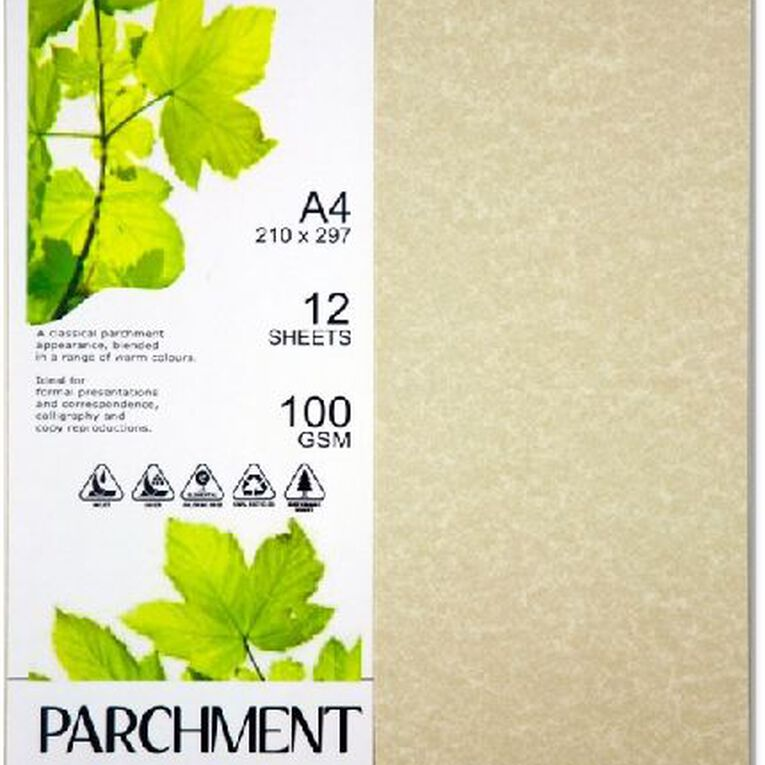 Direct Paper Parchment Paper 100gsm 12 Pack Orion Cream A4, , hi-res image number null