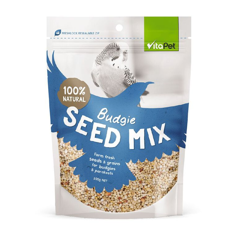 Vitapet Budgie Seed 500g, , hi-res