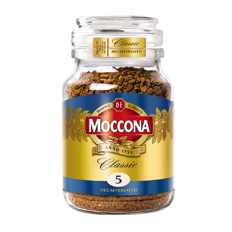 Moccona Classic Decaf Medium Roast Freeze Dried Coffee 100g, , hi-res