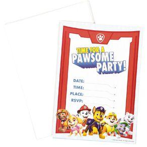 Paw Patrol Invitations 8 Pack
