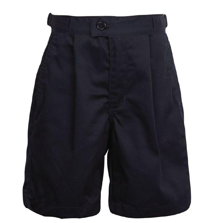 Schooltex Side Tab Summer Shorts, Dark Navy, hi-res