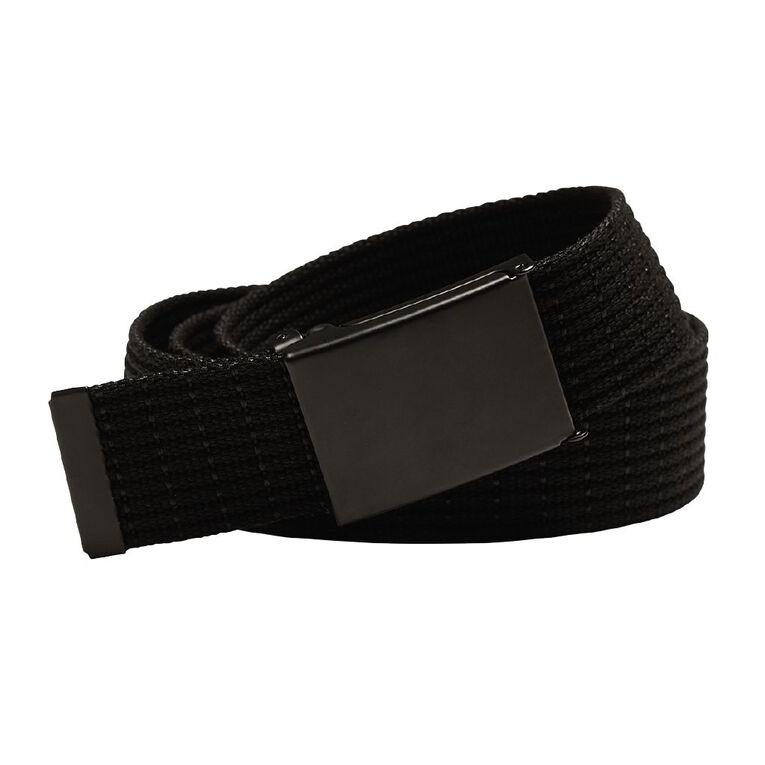 H&H Men's Web Striped Belt, Black, hi-res