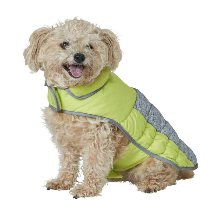 Simply Dog Lime Quilted Puffer Jacket L, , hi-res