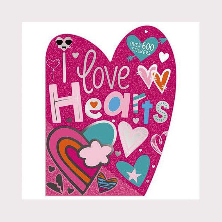 I Love Hearts Sticker Activity Book, , hi-res
