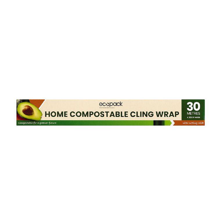 Ecopack Home Compostable Cling Wrap 30m, , hi-res