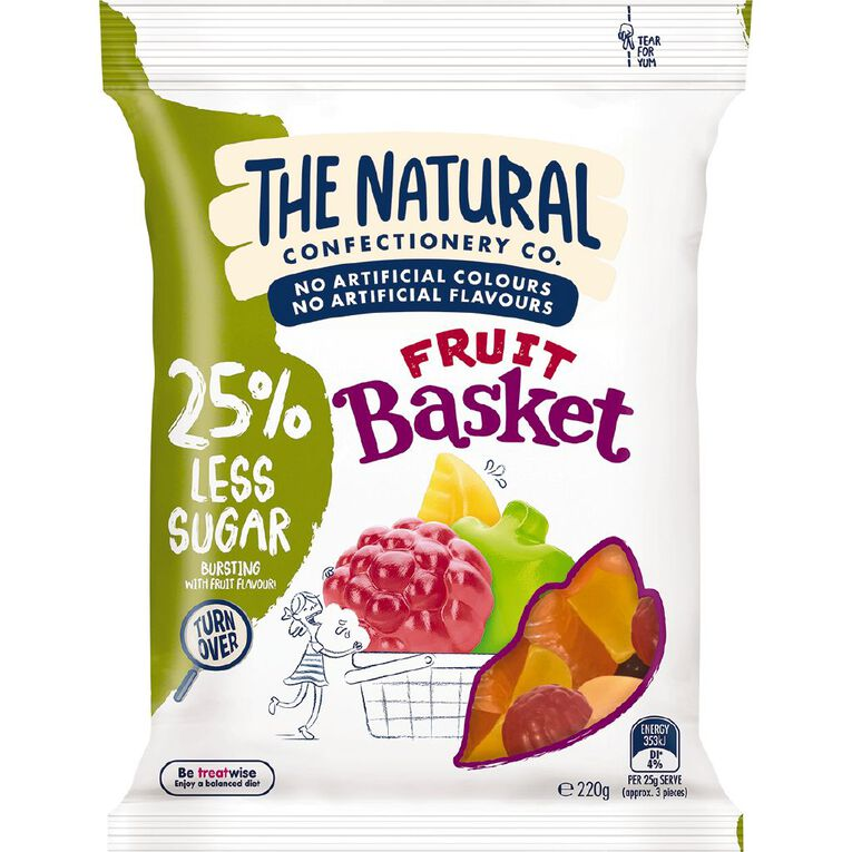 The Natural Confectionery Co. Fruit Basket Reduced Sugar 220g, , hi-res image number null