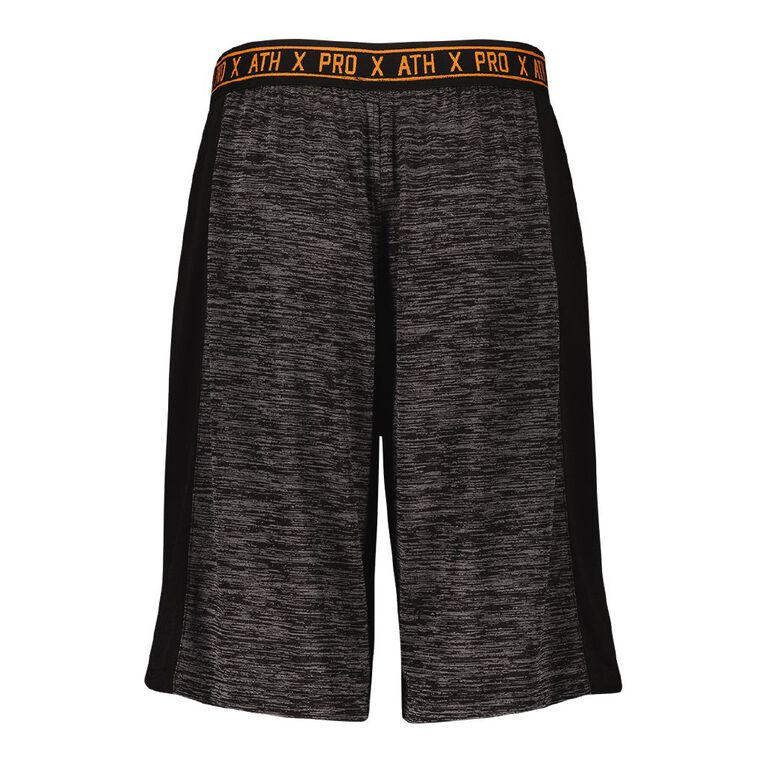 Active Intent Boy's Space Dyed Detail Shorts, Grey Dark, hi-res image number null