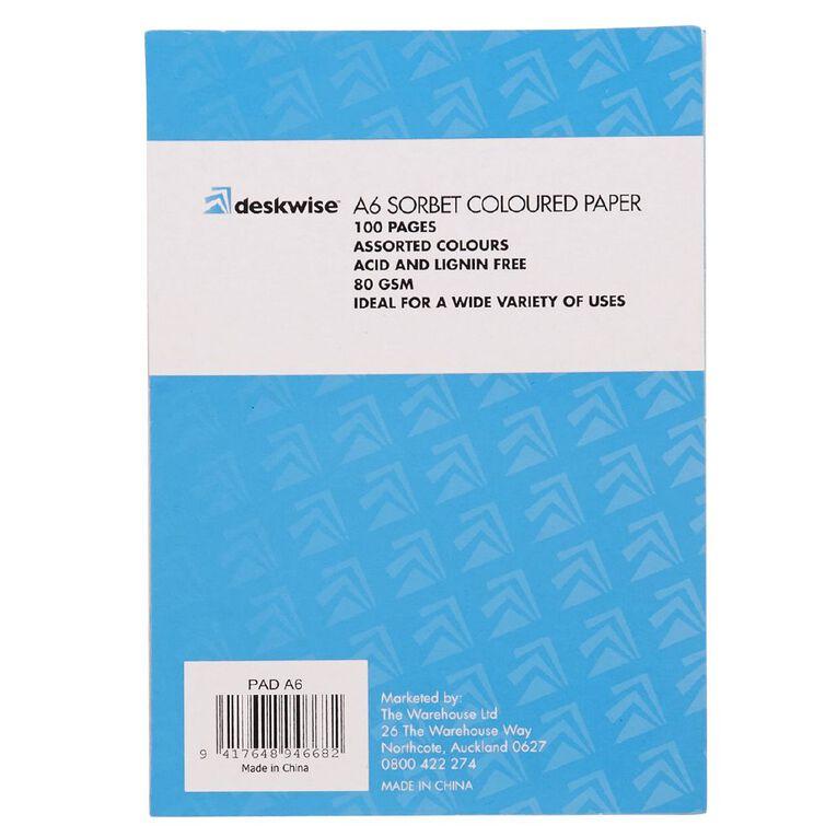 Deskwise Paper Pad Sorbet A6, , hi-res