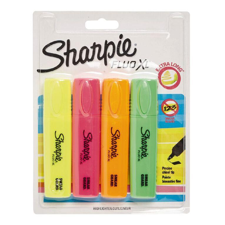Sharpie Fluo Highlighter Assortment XL Mixed Assortment 4 Pack, , hi-res