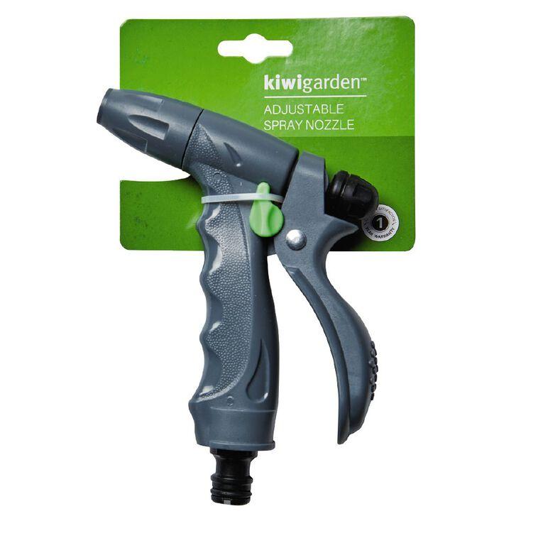 Kiwi Garden Adjustable Spray Nozzle Grey, , hi-res
