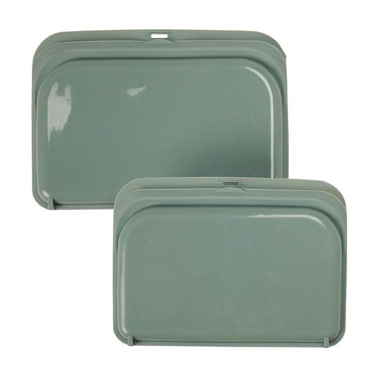 Living & Co Silicone Lunch Pouches Green, , hi-res