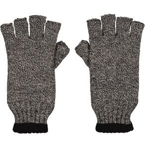Rivet Stripe Fleck Half Finger Gloves