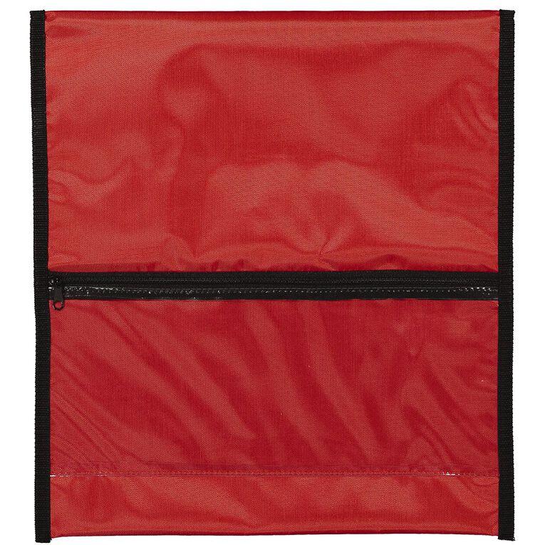 WS Book Bag Zipper Pocket 36cm x 33cm Red, , hi-res