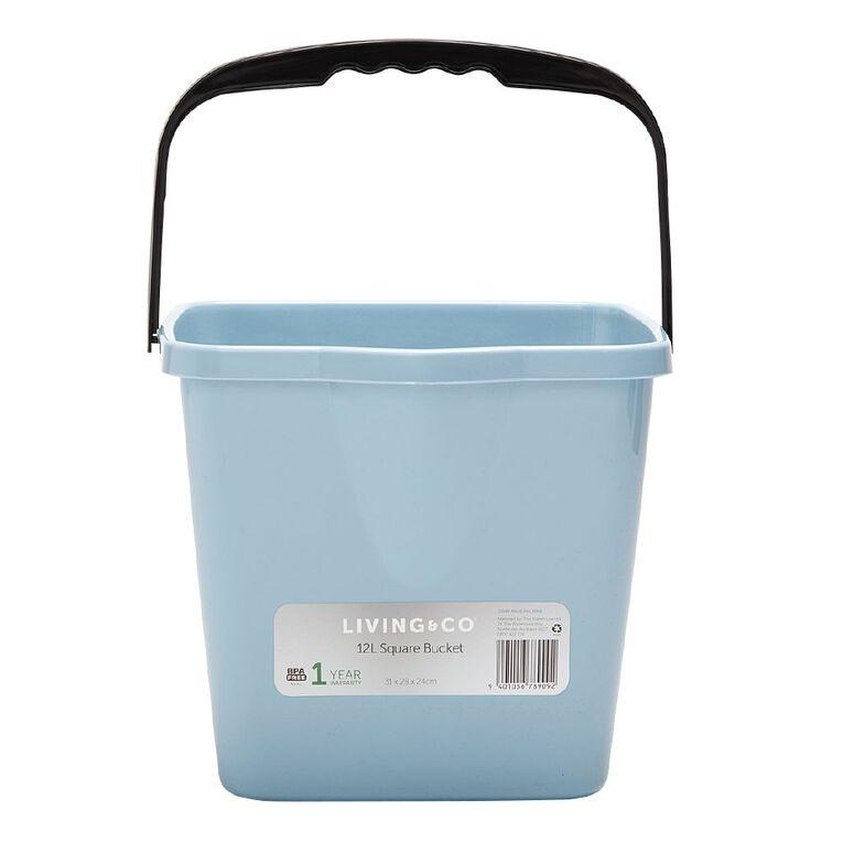 Living & Co Square Bucket Assorted 12L, , hi-res