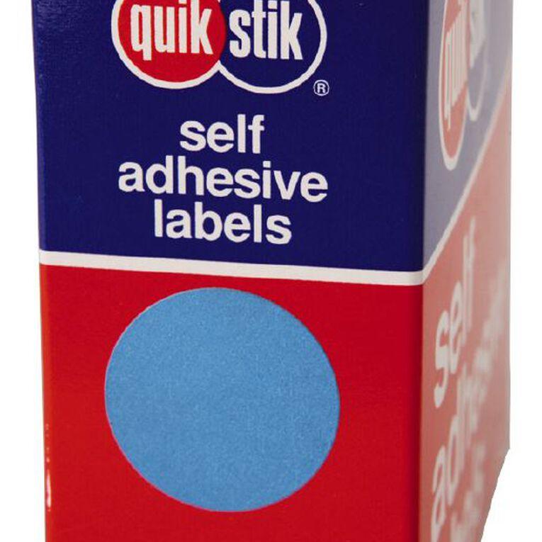 Quik Stik Labels Dots Mc24 500 Pack Blue, , hi-res