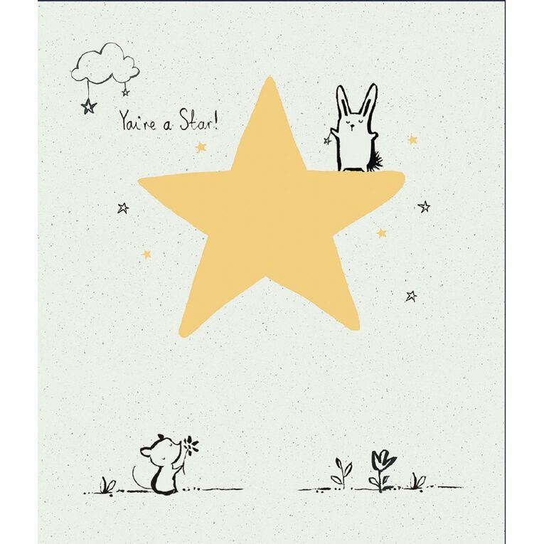 John Sands Blank Card Open Cute Character on Foil Star, , hi-res