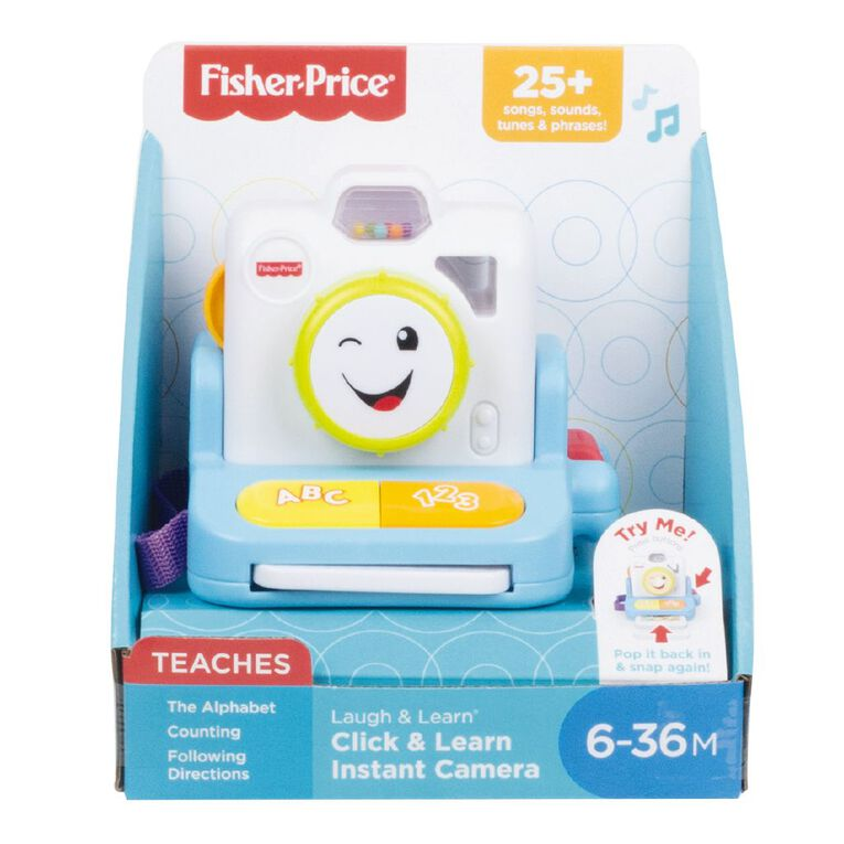 Fisher-Price Laugh & Learn Click & Learn Instant Camera, , hi-res