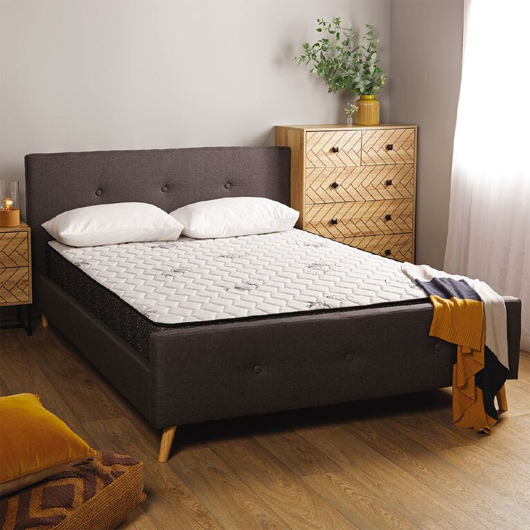 Living & Co Boston Bed Frame Grey Queen, , hi-res