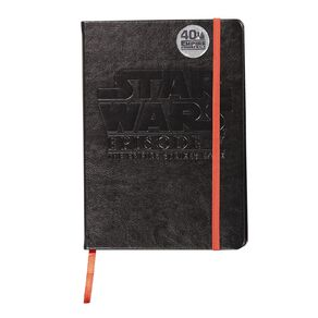 Star Wars Adult PU Notebook Black A5