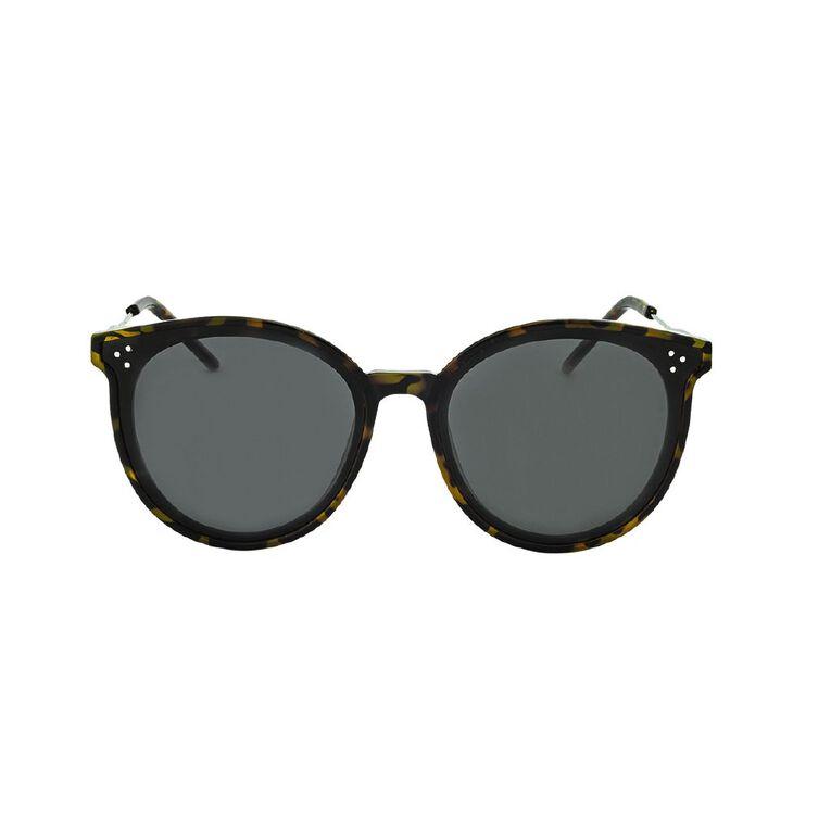 H&H Women's Grey Tort Round Sunglasses, Grey, hi-res
