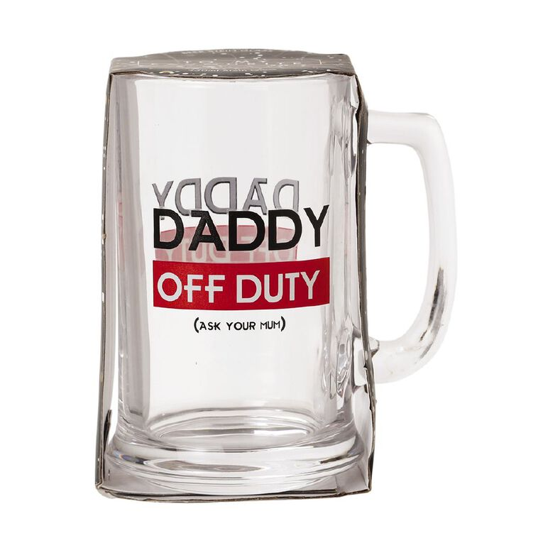 Living & Co Daddy Off Duty Stein Glass Clear, , hi-res