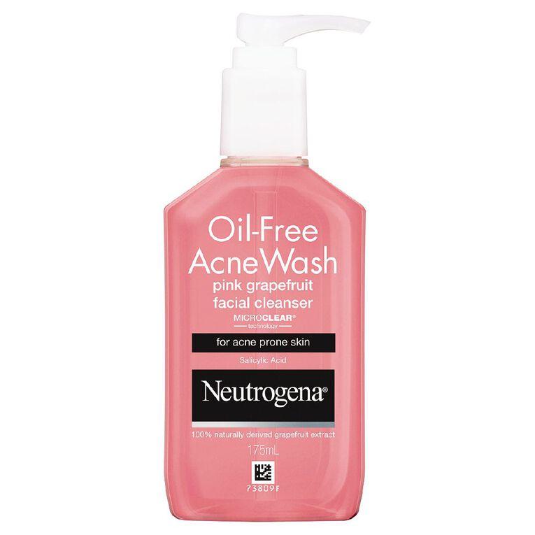 Neutrogena Oil Free Acne Wash Pink Grapefruit Facial Cleanser 175ml, , hi-res