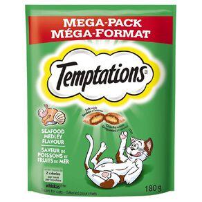 Temptations Cat Treats Seafood Medley Mega Pack 180g Bag