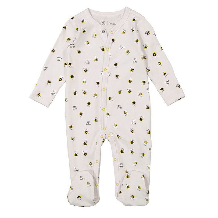 Young Original Baby Domed All In One, White, hi-res image number null