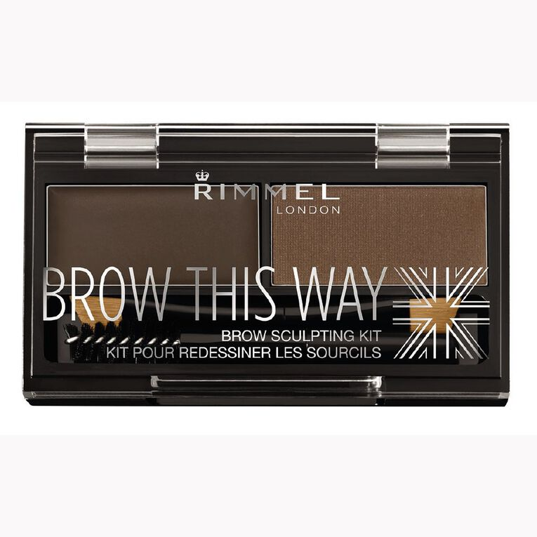 Rimmel Brow this Way Eyebrow Powder Kit Dark Brown, , hi-res